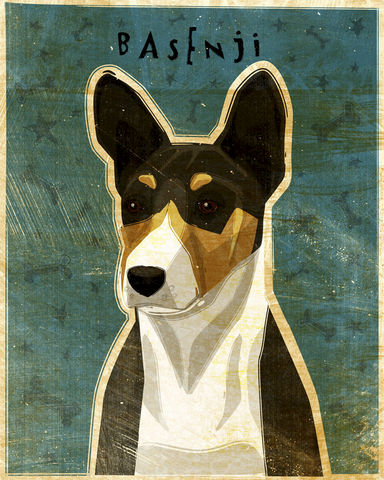 Basenji-,Dog,art-,Tricolor-,Print,8,x,10-,Print-,Gift,Art,Illustration,Whimsical,Digital,Cute,Animals,Animal,Dog_Print_Art,Basenji,Dog_Art,Tricolor,paper,ink