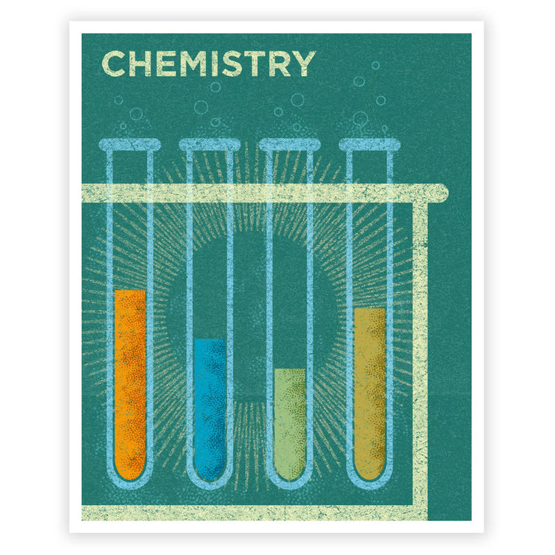 Science Art for Girls - Art for Boys Room - Chemistry Art Print 8 in x 10 in Retro Science Art Print - Print for Boys Room - Kids Wall Art - product images