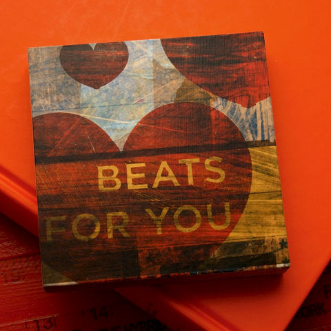 Beats,For,You,Art,Block-,4,x,4-,Gift,for,Wife-,Girlfriend,Gift-,Wife,Illustration,Digital,Anniversary_Gift,Beats_For_You,Gift_For_Wife,Girlfriend_Gift,Honeymoon_Gift,Gift_For_Bride,Engagement_Gift,wood,paper,ink,glue,sealer