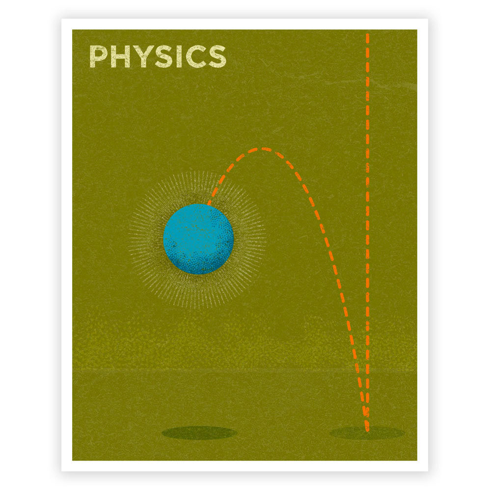 Wall Art for Girls Room Art for Boys Room - Physics Art Print 8 in x ...