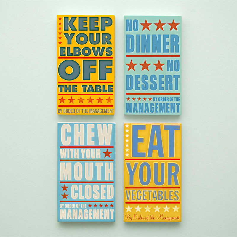 Kitchen Set Of 4 By Order The Management Word Art Blocks X 7