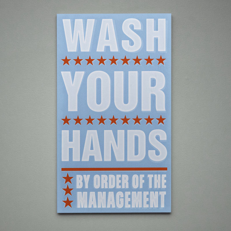 By Order of the Management Art Block - Pick the Print - 12.6 in x 21 in- Bathroom Decor as seen in Land of Nod - product images  of