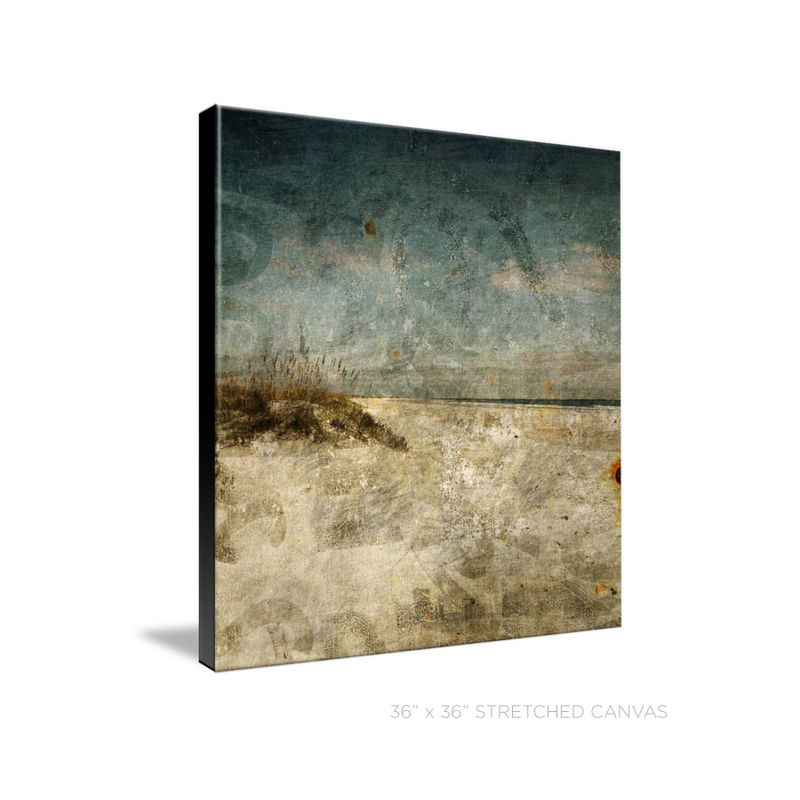 Masonboro Island Photograph No. 1 - Beach Photography - Rovinato Series Art Print on Stretched Canvas - product images