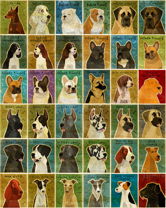 Personalize Your Pooch - Dog Art Block - Various Sizes - product images  of