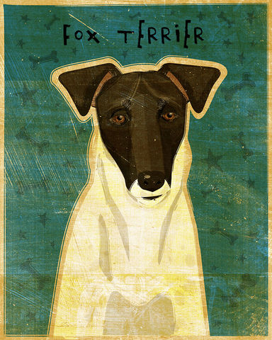 Smooth,Fox,Terrier,Black,and,White,Dog,Art,Print,Illustration,digital,whimsical,cute,dog,animals,animal,schnauzer,black,paper,ink