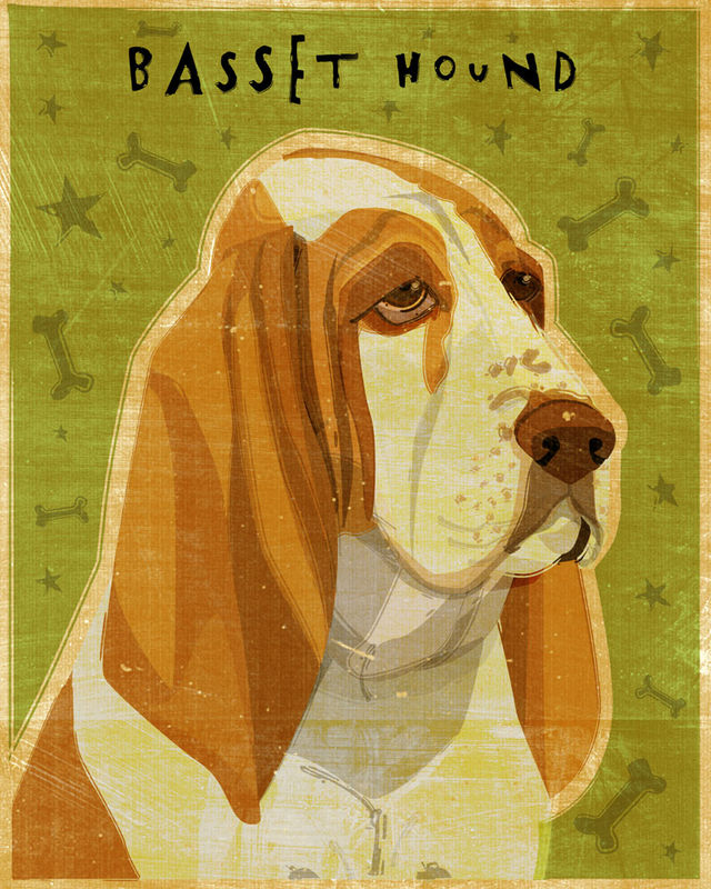 Basset Hound Print - Various Colors - product images  of