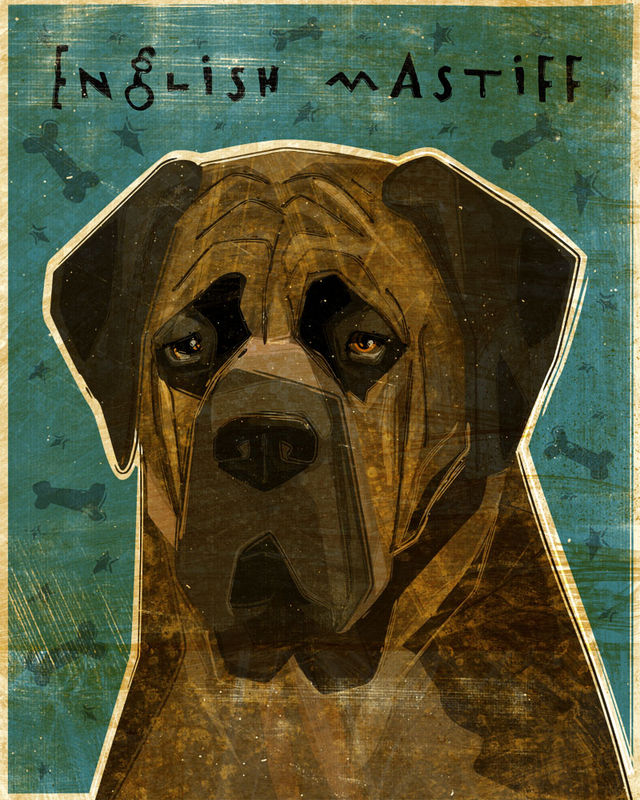 English Mastiff Print - Various Colors - product images  of