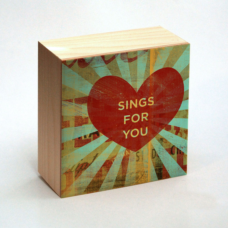 Valentine Heart Art - Sings for You Art Box - 4 in x 4 in - product images  of