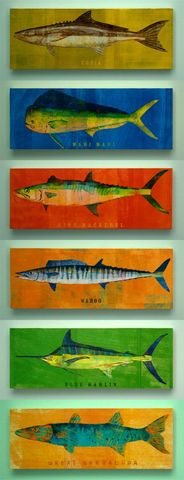 Saltwater,Fish,Series,Large,Art,Block,-,Pick,the,Print,4,in,x,11,in-,Fisherman,Gift,Reproduction,Digital,wood,block,saltwater,fish,dad,dude,fathers_day,gift,paper,ink,glue,sealer