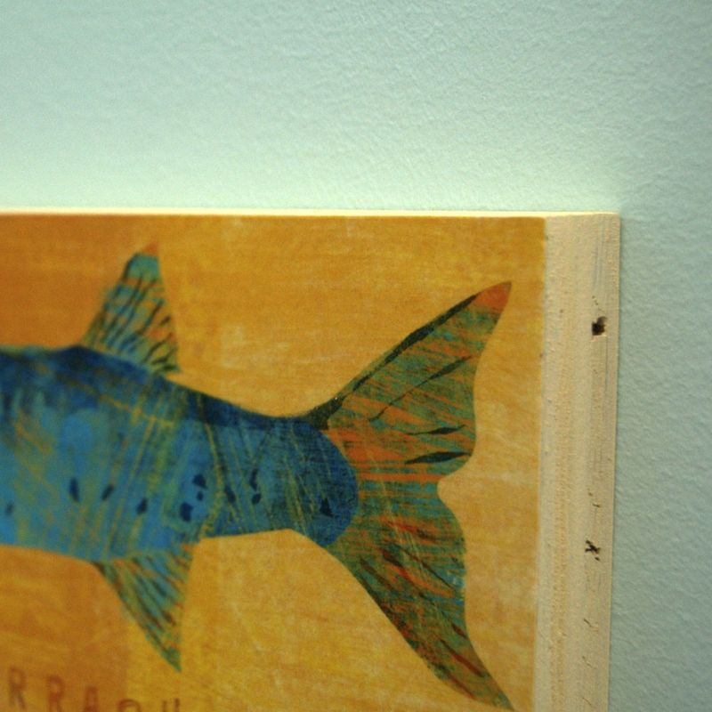Saltwater Fish Series Large Art Block - Pick the Print - 4 in x 11 in- Fisherman Gift - product images  of