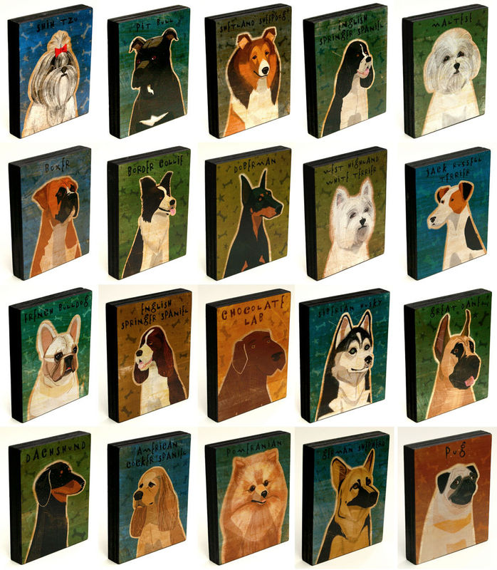 Dog Series Art Block or Box - Pick the Print - product images  of