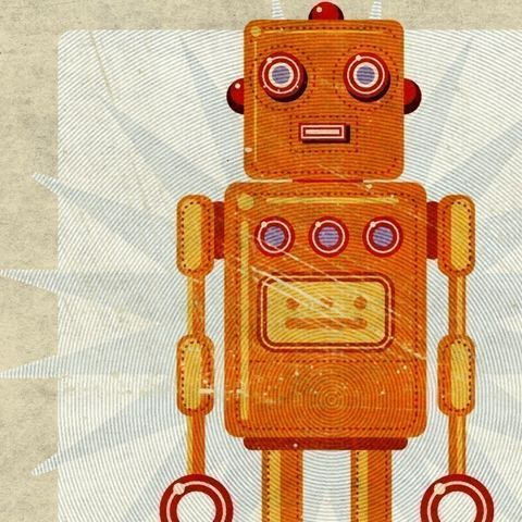 Stan,Jr,Box,Art,Robot,Print,Illustration,Digital,toddler,illustration,print,digital,john_w_golden,children,yellow,robot,sci_fi,space,paper,computer