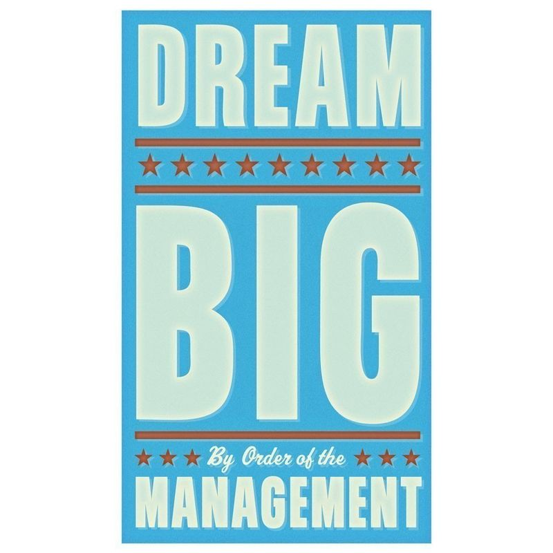 Dream Big in Blue Print 6 in x 10 in - product images  of