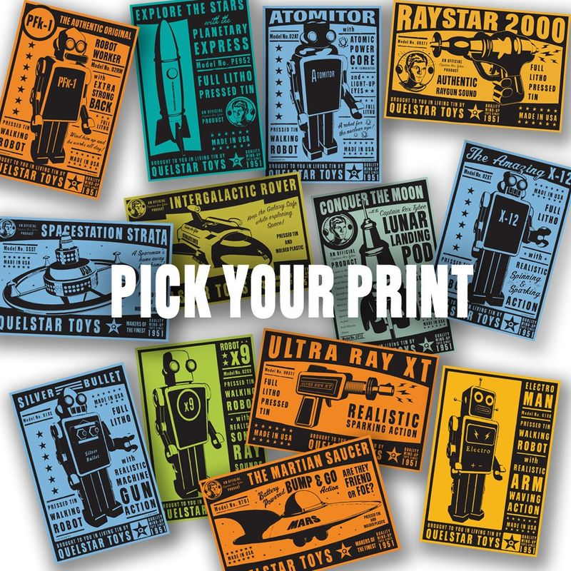 Quelstar Series Pick Your Print, Pick a Color - 12 in x 18 in - product images  of