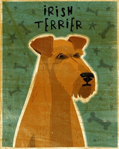 Irish,Terrier,Print,-,Various,Sizes,Art,Illustration,digital,whimsical,cute,dog,animal,terrier,irish,paper,ink