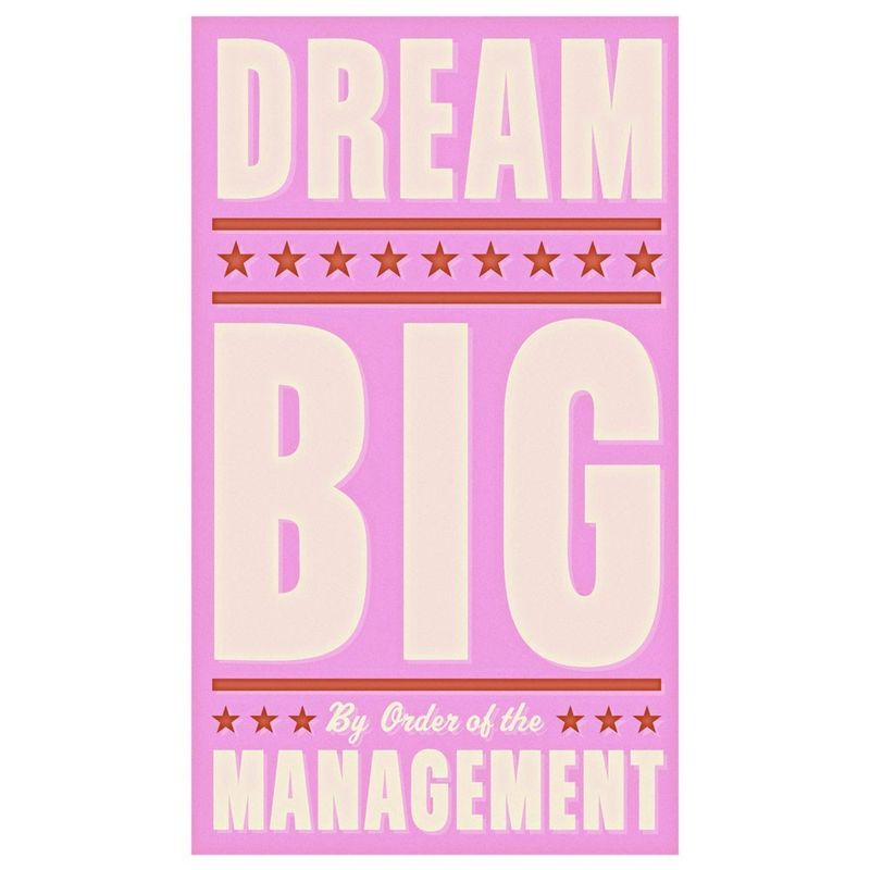 Dream Big in Pink Print 6 in x 10 in - product images  of