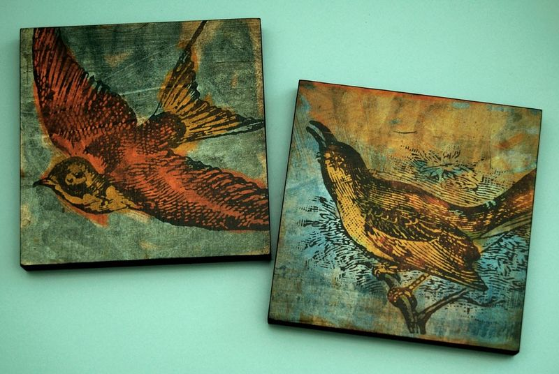 Bird Collage Series Art Block - Pick the Print - 6 in x 6 in - product images  of