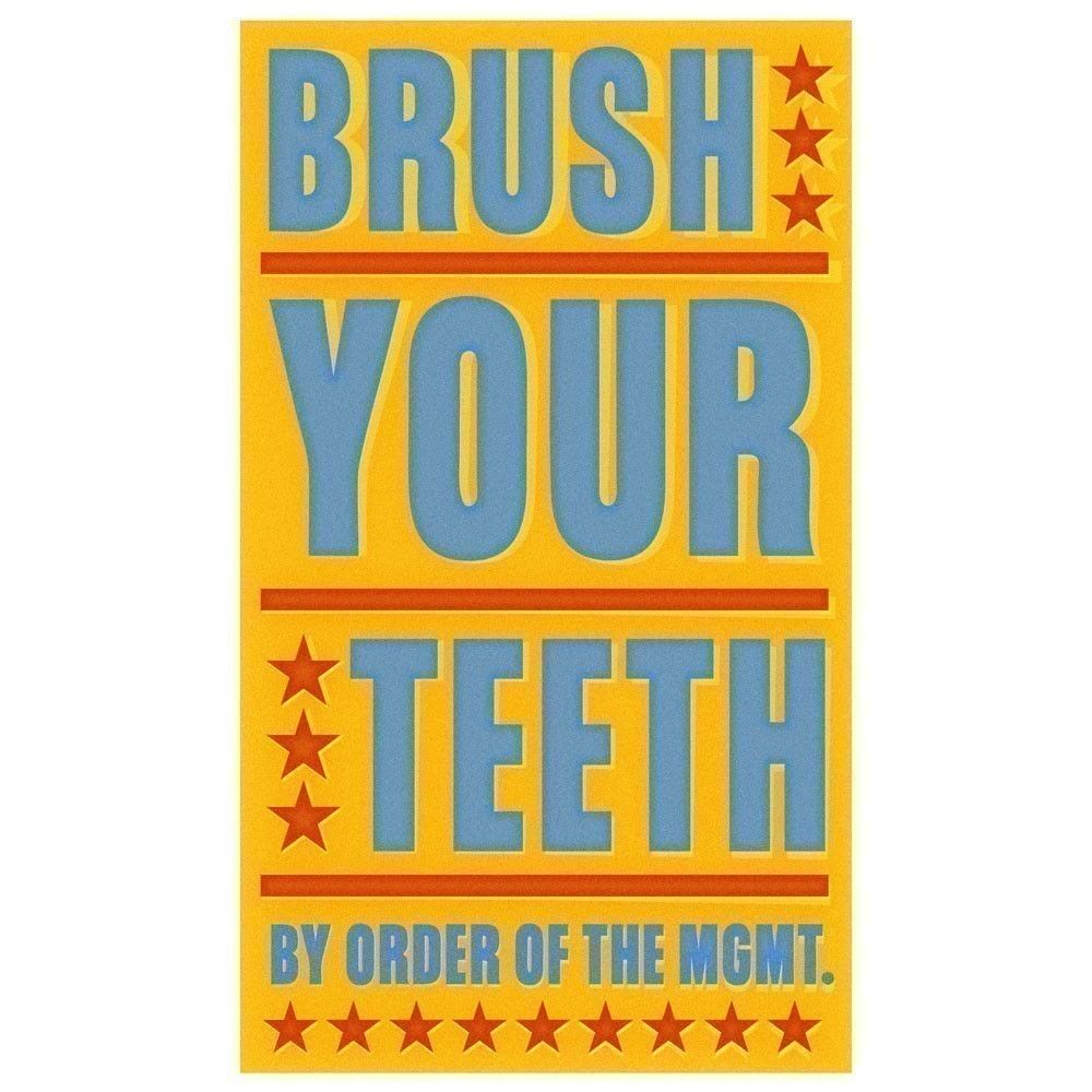 Brush Your Teeth Print Bathroom Wall Decor John W Golden Art