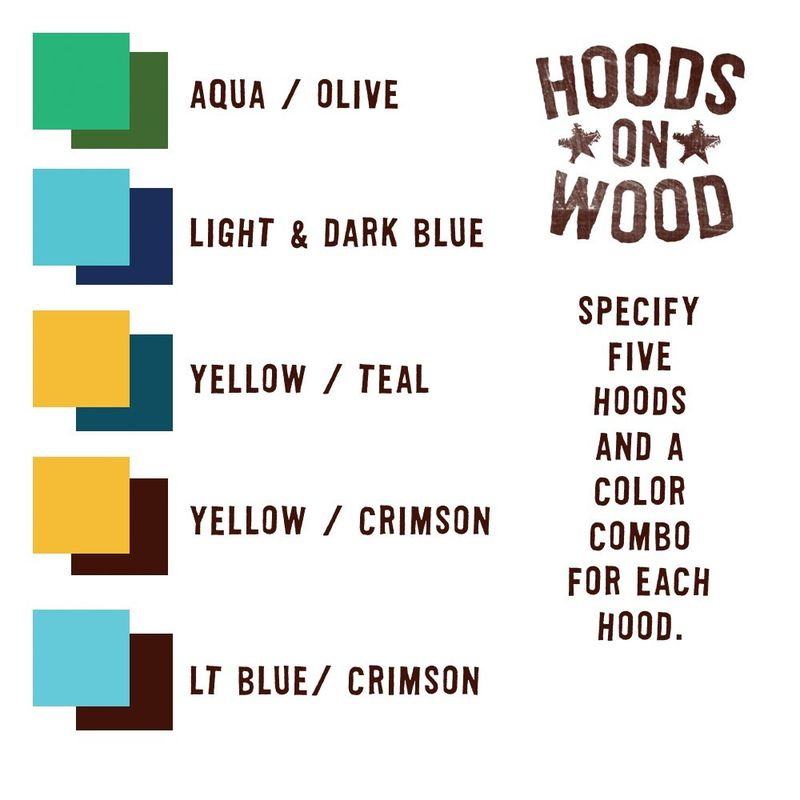 Hoods on Wood - Five Art Block Set - Any City, Pick Your Hoods - product images  of