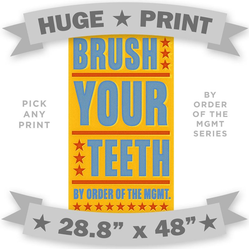 HUGE PRINT - By Order of the Management - 28.8 in x 48 in - Pick Your Print - product images
