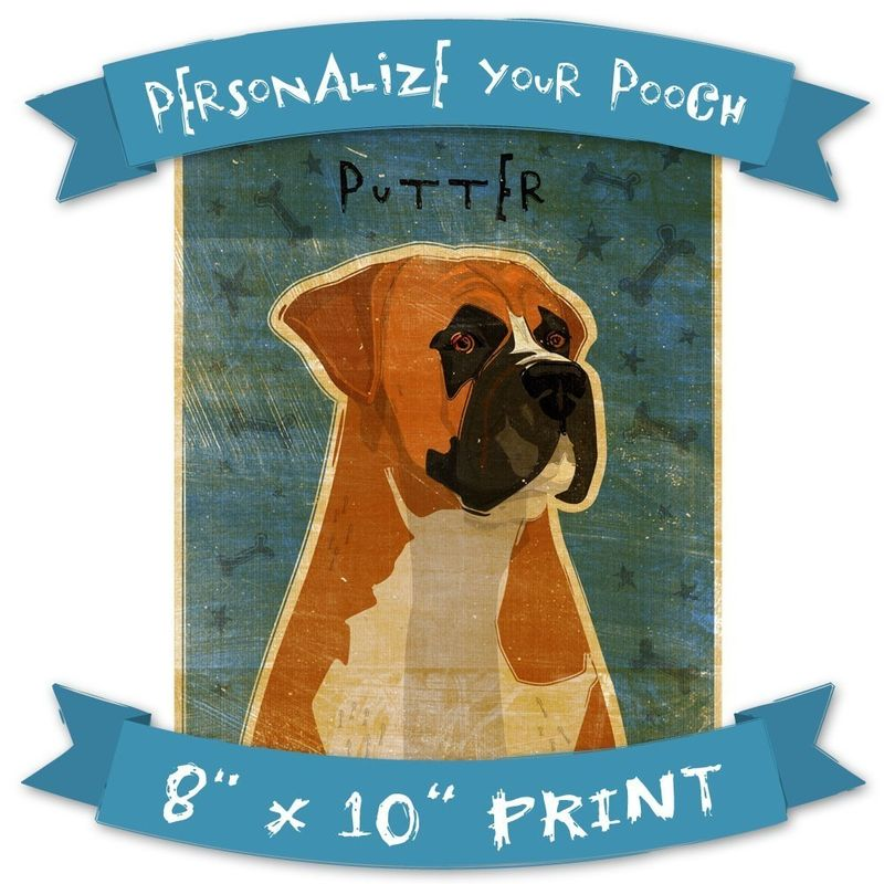 Personalize Your Pooch - Dog Art Print - 8 in x 10 in - product images  of