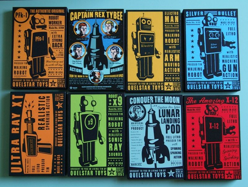 Quelstar Tin Toy  Series - Art Block - 4 in x 6 in - product images  of