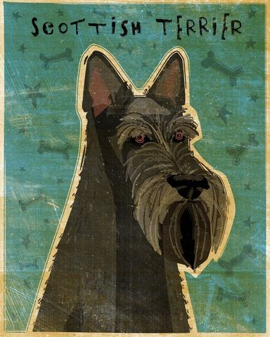 Scottish,Terrier,Black,Print,8,x,10,Art,Illustration,digital,whimsical,cute,dog,animals,animal,terrier,scottish,scottie,aberdeen,paper,ink