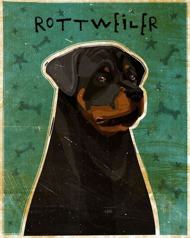 Rottweiler,Print,8,in,x,10,Art,Illustration,digital,whimsical,cute,dog,animals,animal,art,rottie,rottweiler,pets,paper,ink