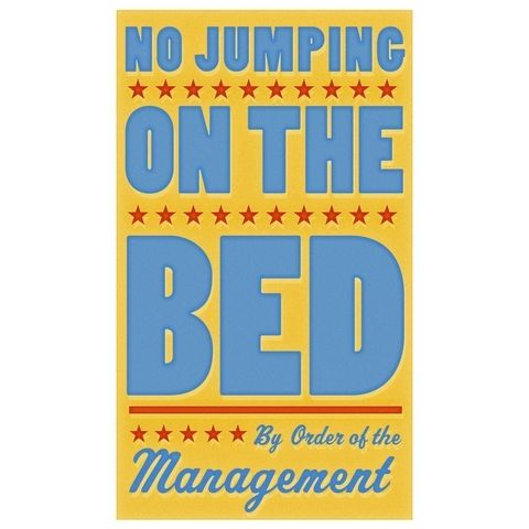No,Jumping,on,the,Bed,Print,6,in,x,10,Children,Toddler,art,illustration,print,digital,parental,john_w_golden,jumping,bed,yellow,blue,red,paper,computer