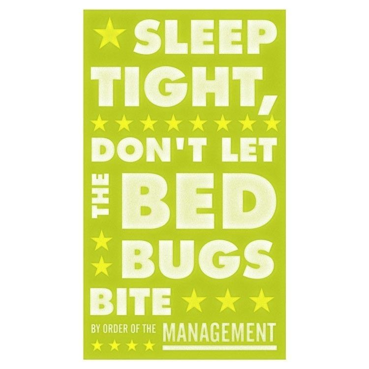 Sleep Tight Dont Let the Bedbugs Bite 6 in x 10 in Print - Green - product images  of