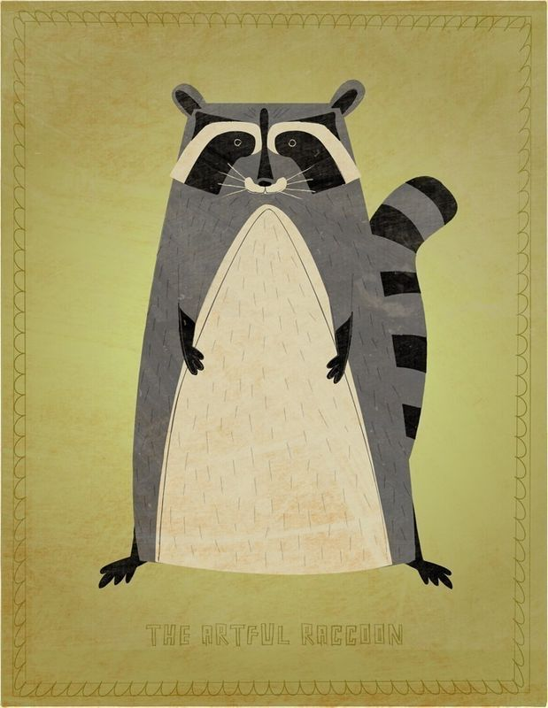 The Artful Raccoon Print 8 in x 10 in - product images  of