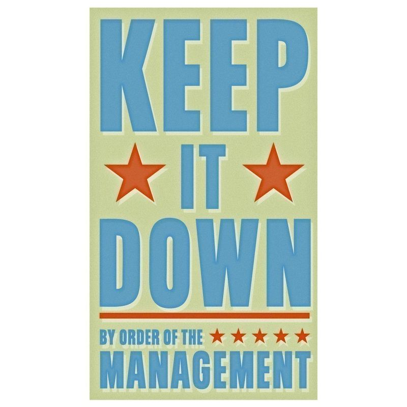 Keep It Down Print 6 in x 10 in - product images  of