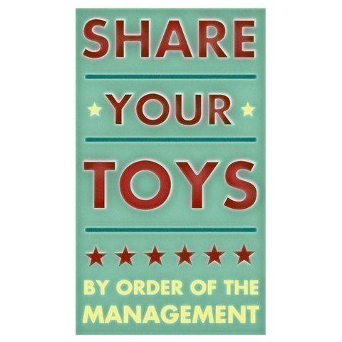Share,Your,Toys,Print,6,in,x,10,Children,Art,share,toys,art,illustration,print,digital,parental,john_w_golden,mint,green,red,mint_art,paper,computer