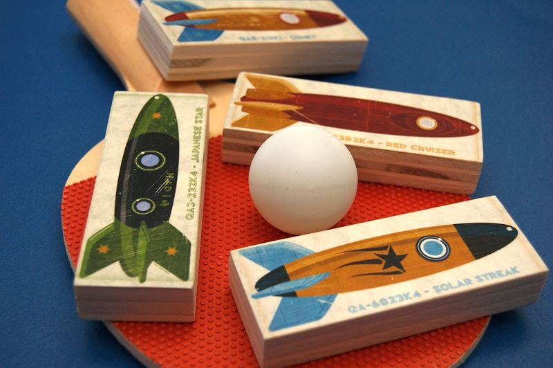 Set of 4 Rocket Mini Art Blocks - product images  of