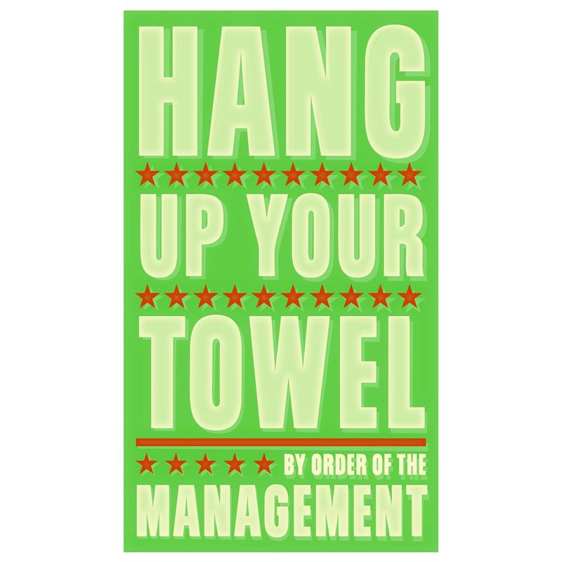 Hang Up Your Towel Print 6 in x 10 in - product images