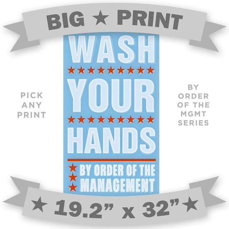 BIG PRINT - By Order of the Management - 19.2 in x 32 in - Pick Your Print - product images