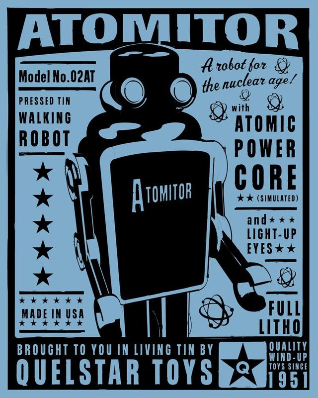Atomitor Tin Toy Robot Box Art Print - product images