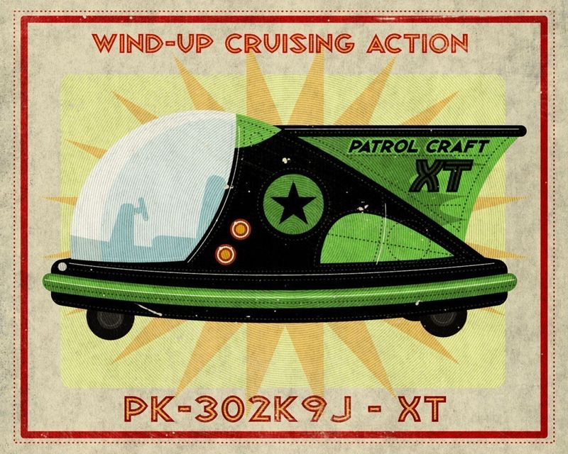 Patrol Craft XT Box Art Tin Toy Print  - product images  of