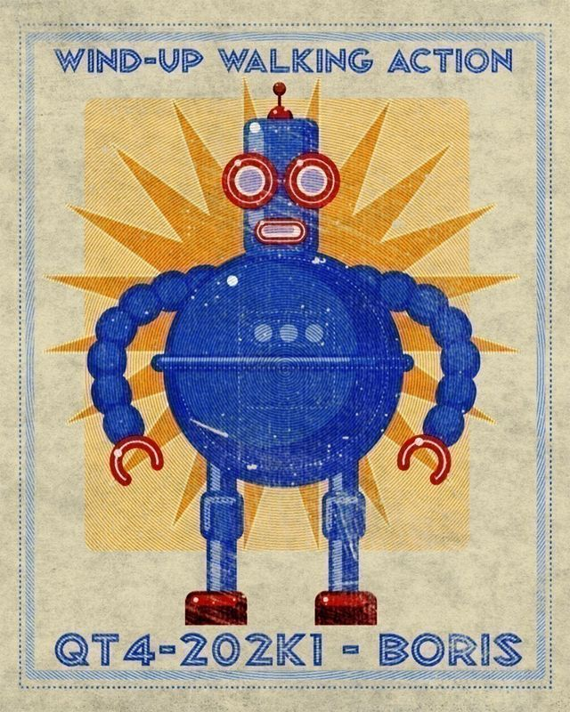 Boris Robot Box Art Print - product images  of