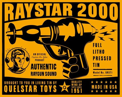Raystar,2000,Tin,Toy,Robot,Box,Art,Print,retro,art,digital,paper,print,robot,cute,children