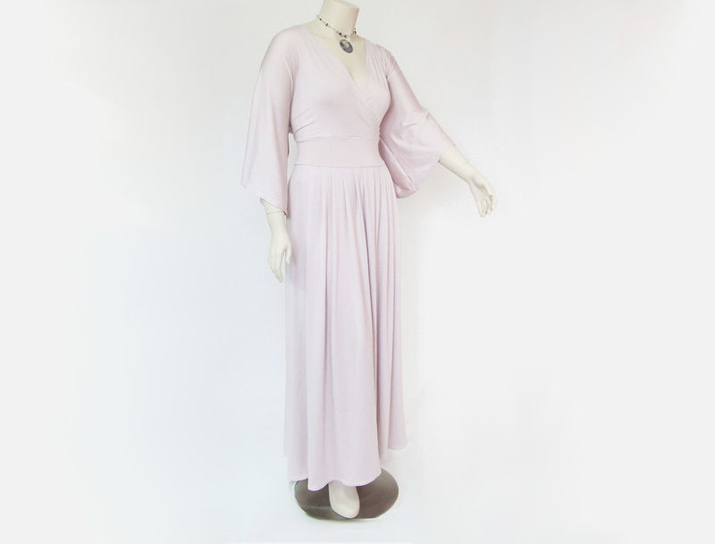 Maxi Dress - Womens Bell Sleeved Long Dress,Great for Casual Wedding - product images  of