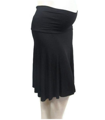 Plus,Size,Maternity,Circle,Skirt,with,Soft,Foldover,Waistband,plus size maternity skirt,maternity skirt, plus size maternity wear,plsu size skirt, maternity knit skirt