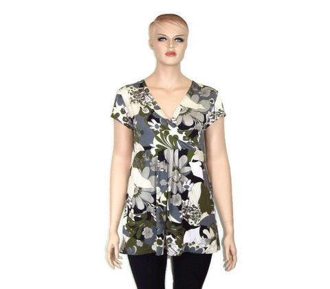 Printed,Kimono,Neckline,Tunic,-,Many,Print,Options,Available,tunic, plus size tunic, plus size fashion, plus size shirt, ethical fashion, slow fashion, eco friendly,natural fiber, hand made clothing, hand made fashion, ethical hand made,floral tunic