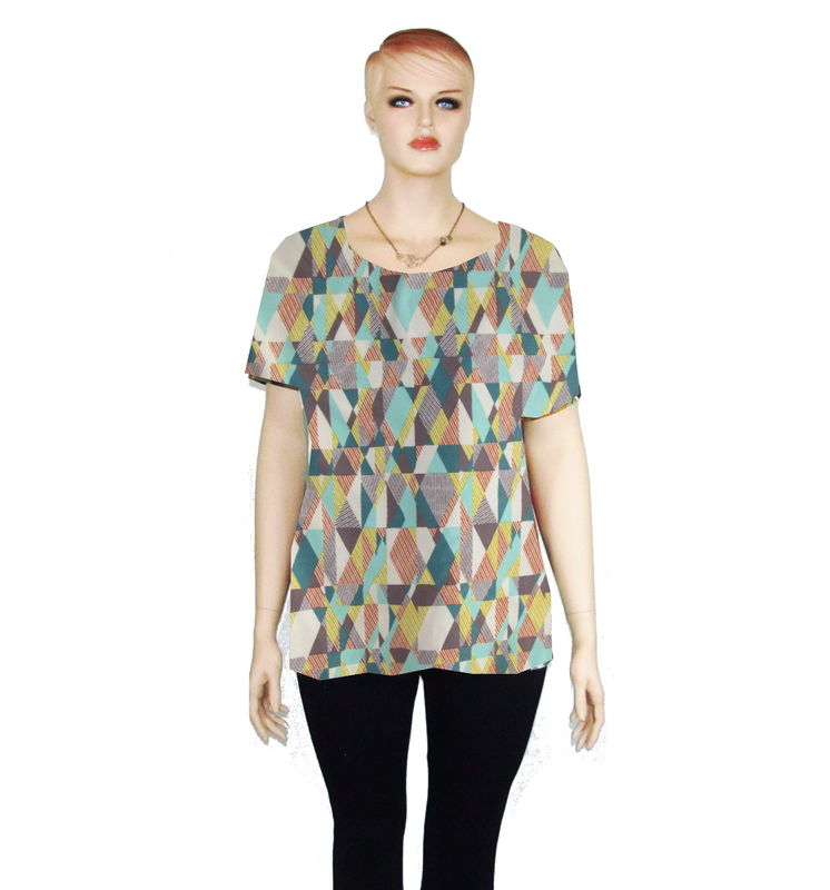 The Kobieta Scoop Neck Shirt or Tunic In Choice of Prints - product images  of