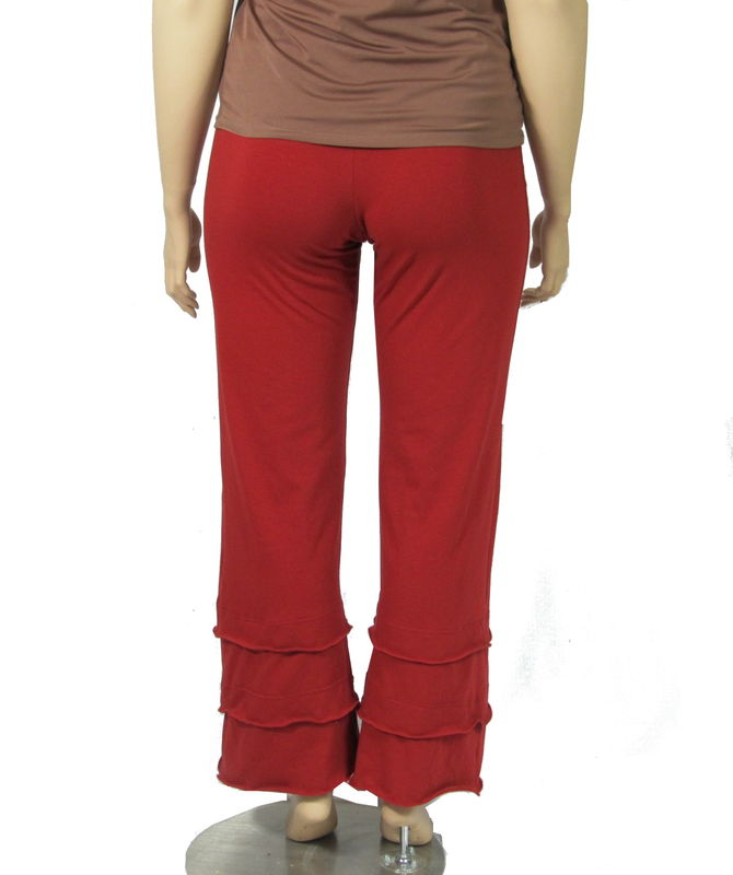 The Kobieta Triple Layer Cuff Straight Leg Yoga Pants - product images  of