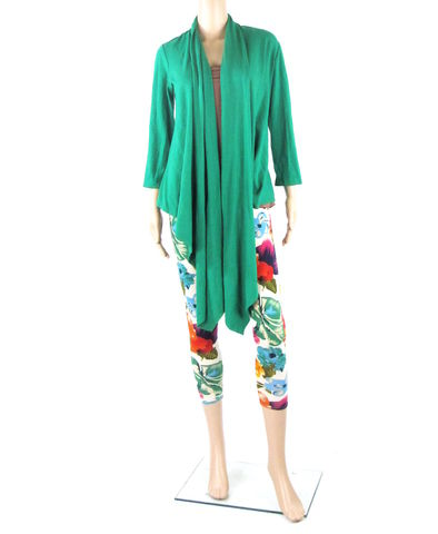 Lush,Green,Waterfall,Cardigan,-,Multiple,Ways,to,Wrap,&,Wear,Ready,Ship,in,Bamboo/Cotton,Size,Medium,cardigan, ethical fashion, handmade fashion, handmade clothing, ethical clothing, fall cardigan, waterfall cardigan, wrap cardigan, wrap top