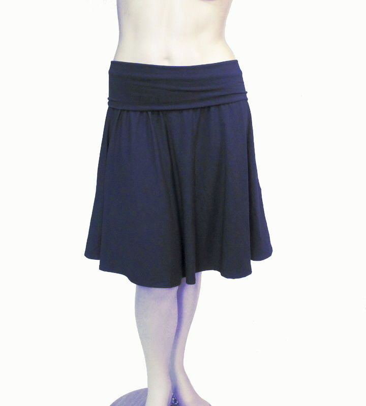 Half Moon Circle Skirt in Bamboo/Organic Cotton - Starry Night - READY TO SHIP - Size 2X/3X - product images  of