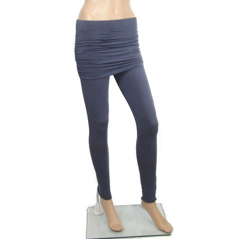 The,Kobieta,Skirted,Leggings,-,Ready,to,Ship,Size,XS/Small,(TALL,or,custom,inseam),in,Smoke,Grey,Organic,Cotton/Bamboo,Jersey,yoga leggings,	skirted leggings	,yoga skirt,	ruched skirt	,skirted yoga legging	,organic yoga legging	,bamboo yoga leggings,	leggings,	small leggings	,small yoga skirt	,small yoga leggings,	ruched hip skirt,	festival pants