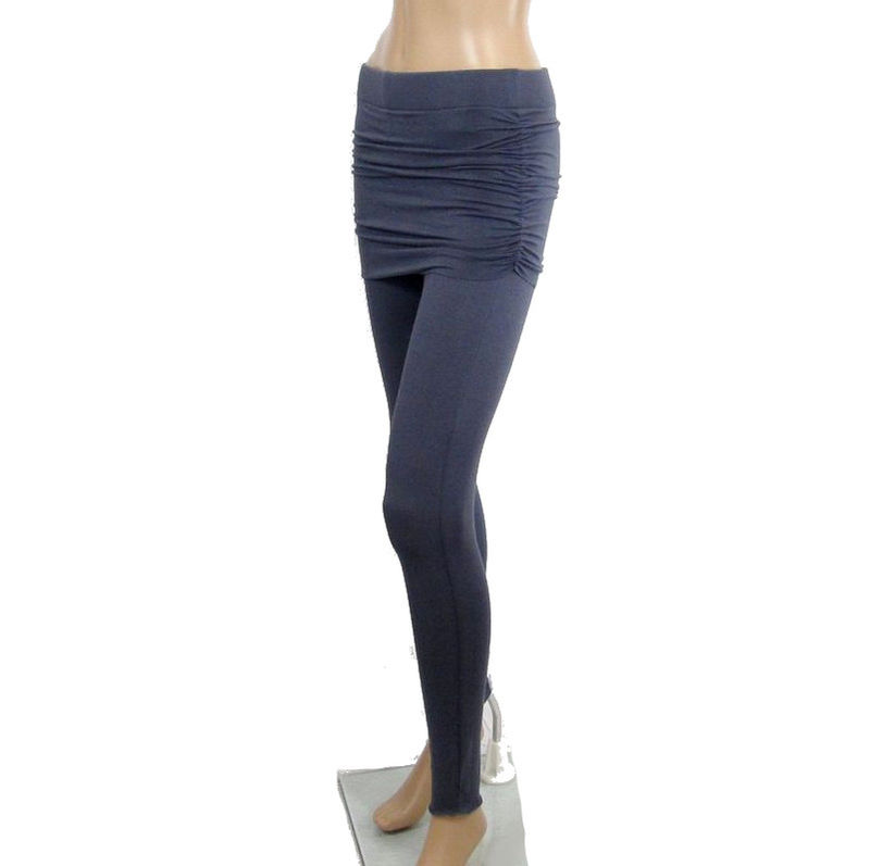 The Kobieta Skirted Leggings - Ready to Ship - Size XS/Small (TALL or custom inseam) in Smoke Grey Organic Cotton/Bamboo Jersey - product images  of