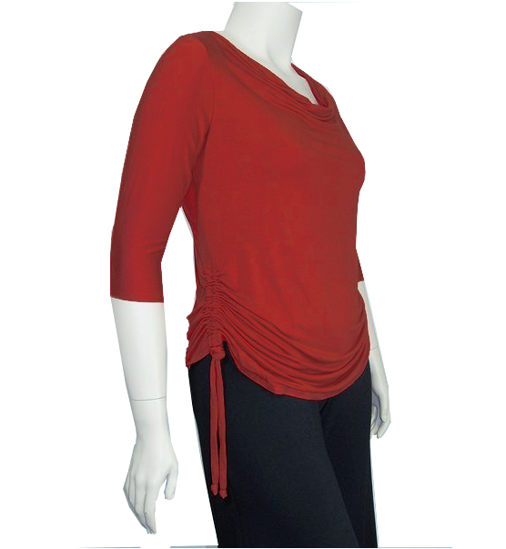 The Drawstring Ruched Cowl Neck Shirt - product images  of